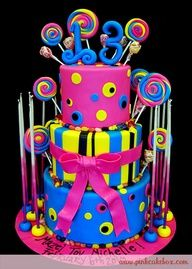 neon cakes for teen girls | Cakes - Neon