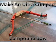 Make An Ultra Compact Compound Bow. I wonder if more speed could be achieved with less angle on the handle? This would be easy to convert to a takedown... or maybe the start to a home-made crossbow.