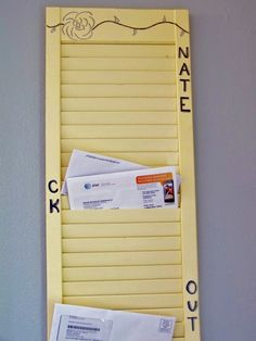 Old Shutter Mail Organizer: for mail, bills, junk mail, etc. For  Stephanie