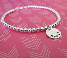 silver bead bracelet by juliethefish designs
