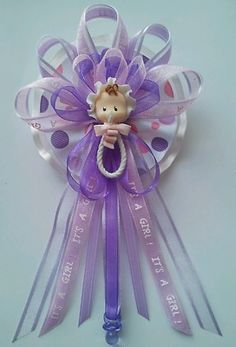 Lavender Baby Face Rattle Baby Shower Corsage   eBay