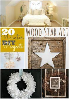 Great Ideas -- 20 Winter DIY Projects! #DIY #Winter #homdecor