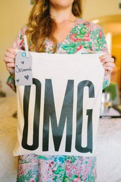 OMG tote bridesmaid gift