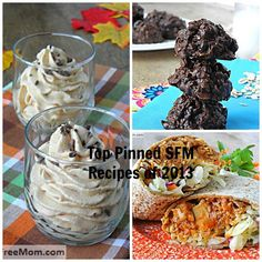 Top pinned recipes of 2013at sugarfreemom.com