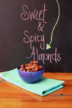 Sweet & Spicy Cinnamon Roasted Almonds.