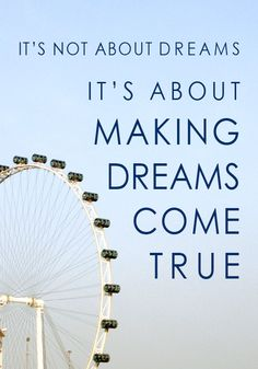 It's not about dream