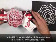 ▶ Stampin' Gals Gone Wild - Tissue Paper Flower - YouTube