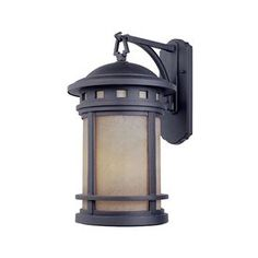 Front porch Designer's Fountain�Sedona 13-in H Oil Rubbed Bronze Outdoor Wall Light $90