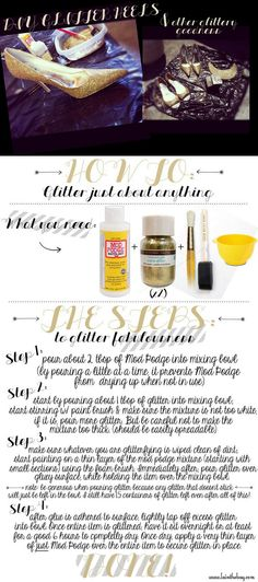 Go to www.lainthebay.com for my DIY tutorial on how to glitter just about anything!