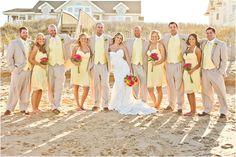 beach attire, beaches, idea, bridesmaid dresses, suits, wedding colors, beach weddings, bridal parties, wedding color schemes