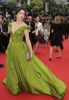 Zhang Yuqi in Ulyana Sergeenko in Cannes 2013