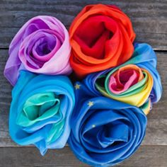 Enchanted Play Silks. Beautiful playsilks in five stunning color combinations. The ultimate Waldorf toys! $17.95