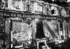 The Amber Room after it was plundered by the Nazis in 1945.