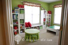 kid bedrooms, color, kid rooms, homeschool idea, playroom organization, school rooms, window seats, kids play rooms, kids bedroom ideas