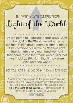lights, visit teach, jesus christ, visiting teaching, activ idea, missionari idea, messages, teach idea, lds idea