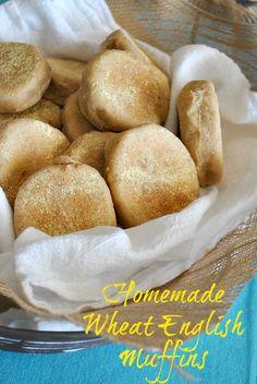 Homemade wheat English muffins