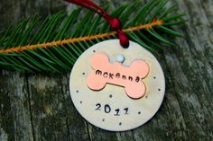 Pet Ornament Personalized Christmas Ornament , Gift For the Pet Lovers, Christmas Decoration, Christmas, Dog Ornament, Custom Dog Ornament. $16.00, via Etsy.
