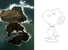 Snoopy Gets His Own 'Look-A-Like' Island TOKYO – When a volcanic eruption in the Pacific Ocean gave birth to a new island and fused with an existing island, it didn't take long for someone to name the new landmass 'Snoopy Island'. - See more at: http://www.ndjglobalnews.com/15560/snoopy-gets-look-like-island.html#sthash.AwCGc3EM.dpuf