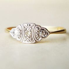 This antique ring already sold.. But something like it would make a killer engagement ring.