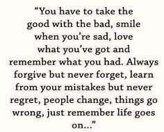 life goes on...