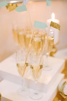 Atlanta's New Year's Eve Wedding/champagne