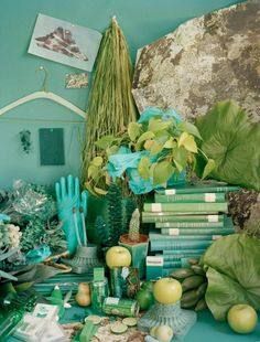 """Study of Color"" by Sara Cwynar #color #green"