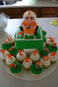 Tennessee Football Cake and Cupcakes