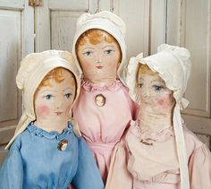 View Catalog Item - Theriault's Antique Doll Auctions Lot: 116. The Third Sister Doll to #114 in Pale Rose Cotton Dress