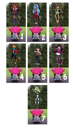 Monster High Hi Birthday Party Centerpiece