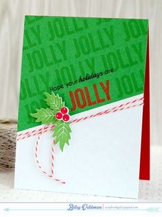 Jolly Holidays Card by Betsy Veldman for Papertrey Ink (July 2014)