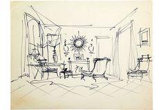 Sitting Room with Sunburst