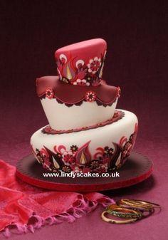 Paisley  topsy turvy cake