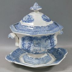 Podmore, Walker & Co. Ironstone Soup Tureen and Underplate