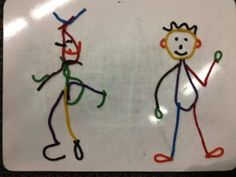 Pipe Cleaner and Wikki Stick People  - Pinned by @PediaStaff – Please Visit  ht.ly/63sNt for all our pediatric therapy pins