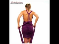 1 Convertible Dress and more than 100 ways to wear (EL5001 PURPLE Video-5)