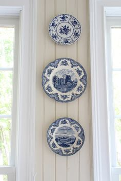 Plates blue and white