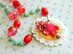 bottlebrush tree necklace