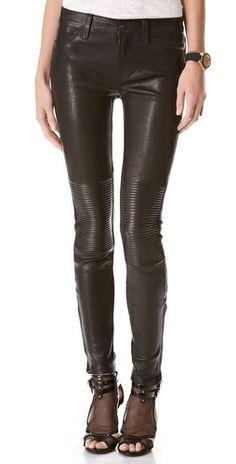J Brand Nicola Leather Moto Pants