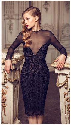Love this Black Lace Dress