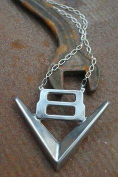Old V8 emblem pendant