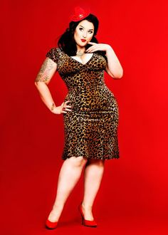 tight & leopard print:) Big beautiful real women with curves accept your body plus size body conscientiousness fashion