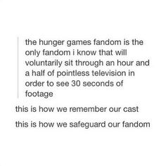 This is how we remember our cast. This is how we safeguard our fandom.