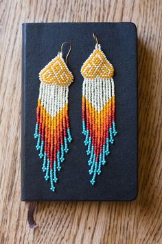 Native American inspired, beaded earrings.