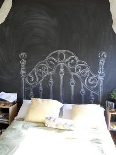 This is a very cool idea I have been trying to decide what to make for a headboard for years!