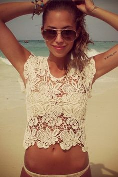 beach time is greatly needed. and when that time comes, I would gladly take this top.