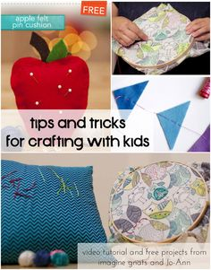 crafting with kids: tips for simple hand stitching projects || imagine gnats