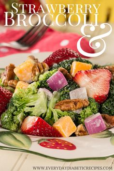 Strawberry Broccoli Salad | This salad will remind you of summer all year long.