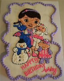 Doc McStuffins Cupcake Pull-Apart Cake