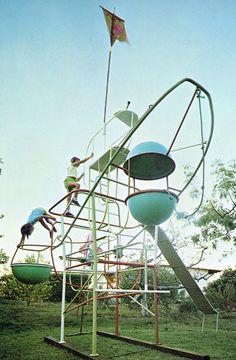 Jungle Gym designed by Svetozar Radakovich 1965 #kids #playground
