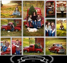 Christmas session, including an old truck that is a family heirloom